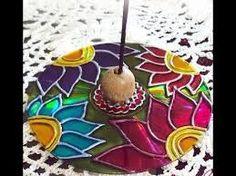 Resultado de imagen para mandalas vitrales en cd Cd Crafts, Paper Crafts Origami, Diy And Crafts, Arts And Crafts, Cd Diy, Stained Glass Paint, Diwali Craft, Mexican Art, Pattern Art