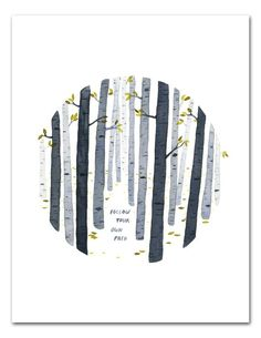 watercolor art Your Path Watercolor Art Print, Nature Wall Art, Inspirational Quote, Birch Trees, Hand Lettering Art by Little Truths Studio Watercolor Walls, Watercolor Paintings, Painting Walls, Watercolor Quote, Painting Trees, Sign Painting, Watercolor Trees, Watercolor Artists, Watercolor Portraits