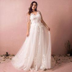 b15d2ef7b8 Najpiękniejsze   Ekskluzywne Białe Suknie Ślubne 2017 Princessa V-Szyja  Tiulowe Frezowanie Aplikacje Bez Pleców Ślub