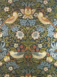 William Morris Strawberry Thief Furnishing Textile My FAV
