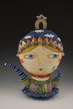 Sunshine Girl  Teapot by natalyasots on Etsy, $1200.00