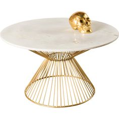 Tables - Thanks to its white marble top and gold steel legs this round coffee table, by Juno, has a serene look. Iron Coffee Table, Brass Coffee Table, Coffee Table Wayfair, Cool Coffee Tables, Modern Coffee Tables, Living Room Decor Inspiration, Contemporary Coffee Table, Spring Home, Creative Decor