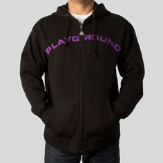 upper-playground - Playground Zip Hoodie in Black and Purple #upperplayground @upperplayground #up #walrus #sf #playground #hoodie