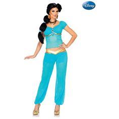 Aladdin's Princess Jasmine Adult Disney Costume ($70) ❤ liked on Polyvore featuring costumes, halloween costumes, multicolor, womens costumes, womens halloween costumes, adult princess costume, adult princess jasmine costume and ladies halloween costumes