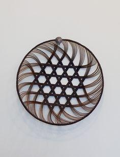 Small: 24cm diameter. Medium: 29cm diameter. Large: 34.5cm diameter.