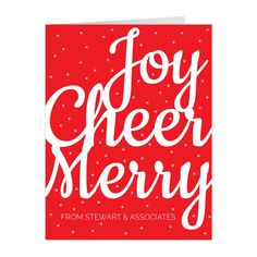 When customizing please note that up to three ink colors may be used for your personalization. This card includes white envelopes. Script Words, Christmas Words, White Envelopes, Ink Color, Wall Plaques, Note Cards, Christmas Decorations, Greeting Cards, Merry