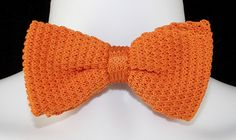 New Orange Knit Mens Bow Tie Adjustable Tuxedo Wedding Prom Fashion Bowtie #TiesJustForYou #BowTie