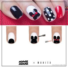 fall in ...naiLove!: Minnie Mouse nails vol.2: tutorial.| MOHITO.