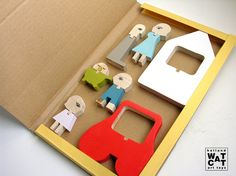 HUFAMILY wooden set toy by WatermelonCatCompany on Etsy