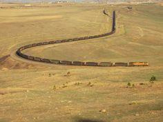 Union Pacific coal train in Colorado, Enine 6746, March 2012