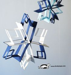 Pop Up Snowflakes (includes video) Christmas Craft Projects, Craft Projects For Kids, Winter Crafts For Kids, Art For Kids, Diy École, Snowflakes Art, Kindergarten Art Projects, Art Lessons Elementary, Snowman Crafts