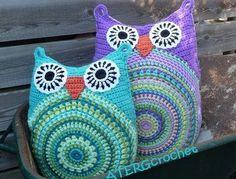 "owlsowlsowlsowlsrcool: "" Crochet Pattern Owl Cushion for $4.00. Click To Get """