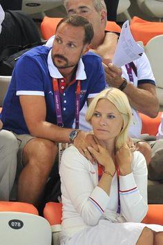 Crown Prince Haakon and Crown Princess Mette-Marit attending the London Olympics 30/07/12