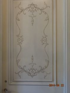 Hand painted door By Olde   World Finishes