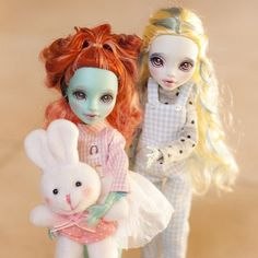 Introducing Everland waters! - OOAK Lagoona Blue & Lorna Mcnessie dolls - Monster high