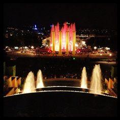 Montjuïc fountain in Barcelona, Spain