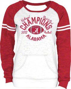 Alabama Crimson Tide NCAA Women's 2012 BCS National Champions Burnout Crewneck Sweatshirt