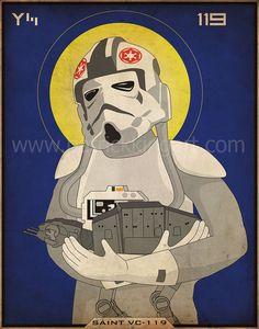 Star Wars - Imperial Saints - AT-AT Driver Large Art Print