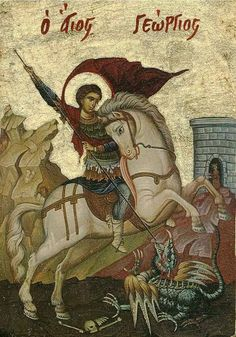 Saint George Prince of the Martyrs Saint George, Saint George And The Dragon, Byzantine Art, Orthodox Christian Icons, Art, Christian Art, Art Icon, Sacred Art