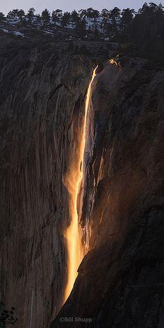 Sunset on Horsetail Falls | by Bill Shupp
