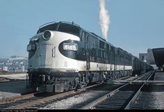 SOU 4145 with Train the Royal Palm, waiting to depart from Cincinnati Union Terminal on April She is showing you she has a steam boiler. Photo credit: Roger Puta, via Marty Bernard. Cincinnati Museum, Florida East Coast, Steam Boiler, Railroad History, Diesel Locomotive, Steam Locomotive, Southern Railways, Railroad Photography, Norfolk Southern
