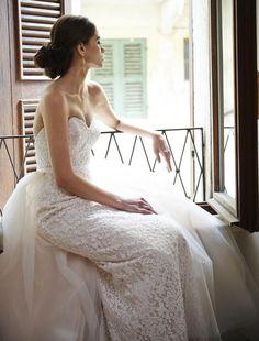 The beautiful 'Annabel' gown from Stephanie Allin, available at Rachel Ash brides September 2016 #weddingdress #pinkweddingdress #train #lovemydress