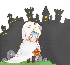 Chibi Draco - Ghosts!! by Cremebunny on DeviantArt