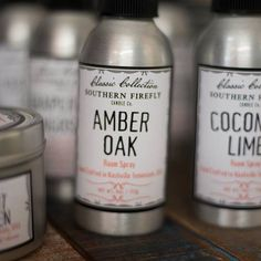 The new Room sprays have been a huge hit.  Get your today. On display @aweboutique photo by @edenlauren_photo #southernfirefly #roomsprays #candlelove #nashville #amberoak