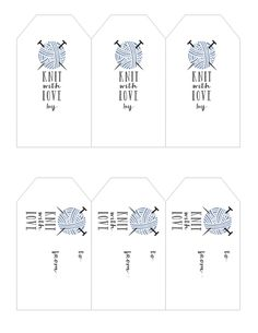 Ideas knitting gifts ideas printable labels for 2019 Free Printable Gift Tags, Printable Labels, Free Printables, Labels Free, Loom Patterns, Knitting Patterns Free, Free Knitting, Handmade Tags, Handmade Crafts