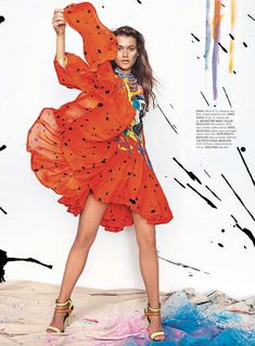painted love shop mag4 Painted Love: Chloe Lecareux Gets Colorful in SHOP Magazine Spread