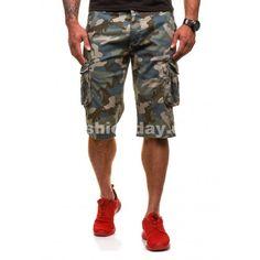 Maskáčové pánske krátke nohavice v sivej farbe - fashionday.eu Design, Fashion, Moda, Fashion Styles, Fashion Illustrations, Fashion Models