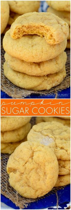 These Pumpkin Sugar Cookies are absolutely amazing! Deliciously soft and full…
