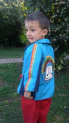 Traje del capitan topa Junior Express, Zumba, Irene, Sewing, Sweatshirts, Birthday, Party, Top, Style