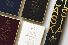 Wedding Invitation Suite - Classika by Print The Love Boutique on @creativemarket