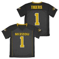 NCAA Missouri Tigers Boys' Athletic Jersey - XS, Multicolored