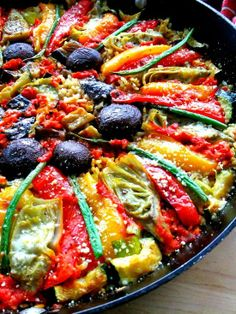 Vegetable Paella. Use Winona Pure Oil when cooking for best results.