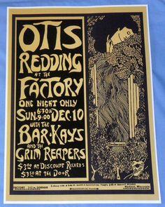 Otis Redding Concert Poster Madison WI December 10 67 The Night He Died