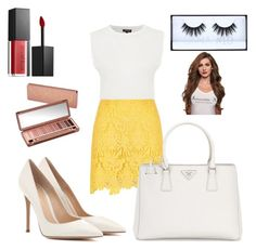 """""""Unbenannt #245"""" by lailabalic on Polyvore featuring Mode, Topshop, River Island, Gianvito Rossi, Prada, Smashbox und Urban Decay"""