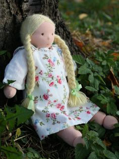 Anna  waldorf dress up doll  13 by ElodeaToys on Etsy