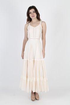 32390041e1f0 Gunne Sax Dress Boho Wedding Dress Prairie Dress Vintage 70s Boho Wedding  Dress