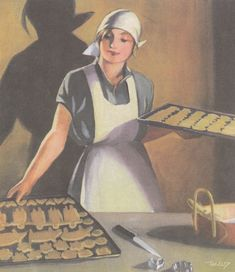 Martta Wendelin was a Finnish artist whose work was widely used to illustrate fairy tales and books, postcards, school books, magazine and book covers. Childrens Christmas, Christmas Art, Vintage Cards, Vintage Postcards, Childrens Baking, Finnish Women, Vintage Baking, Pretty Drawings, Vintage Cookbooks