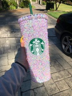 Pink pastel pearl venti Starbucks hard plastic tumbler - - Handmade Custom made Starbucks hard plastic double walled venti cold cup tumbler Care instructions are included High quality materials used. Starbucks Tumbler Cup, Iced Starbucks Drinks, Copo Starbucks, Personalized Starbucks Cup, Custom Starbucks Cup, Starbucks Secret Menu, Starbucks Recipes, Starbucks Coffee, Starbucks Siren