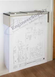 The brookside design vrw85 vis i rack wall rack is a great way to try the brookside design premium drop lift blueprint wall rack model dlwc this wall rack accomodates twelve 18 to 42 long hanging clamps malvernweather Image collections
