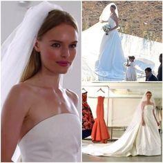 Celebrity Wedding Dress Inspiration: Kate Bosworth #weddings #fashion #oscardelarenta