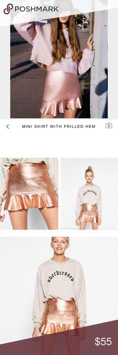 🆕 Mini skirt with frilled hem Bwt, sold out🙌🏻 Zara Skirts Mini