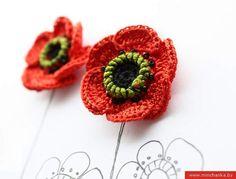crochet poppy tutorial.