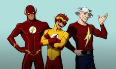 The Flashes from Season 1 of Young Justice. Well....Impulse came in later... http://hubpages.com/entertainment/young-justice-2