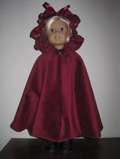 Beautiful Cloak for American Girl and Similar 18 by MarieGeorj, $45.00