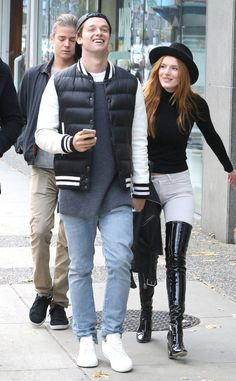 Patrick Schwarzenegger & Bella Thorne from The Big Picture: Today's Hot Pics The Midnight Sun co-stars step out for some midday sun in Vancouver.