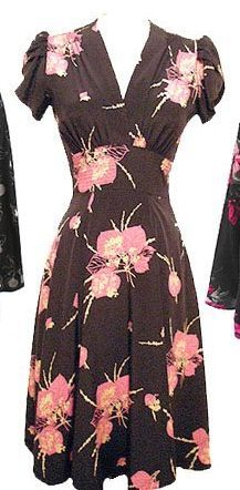 Navy Floral:  Alexa Dress - Silk - Size 6
